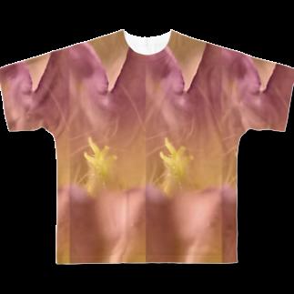 クレヨン君とえんぴつ君のふうりんそう Full graphic T-shirts