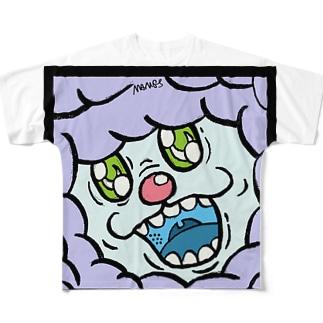 ハヌマーン フィアーフェイス Full graphic T-shirts