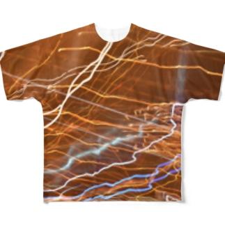高速道路はピカピカ Full graphic T-shirts