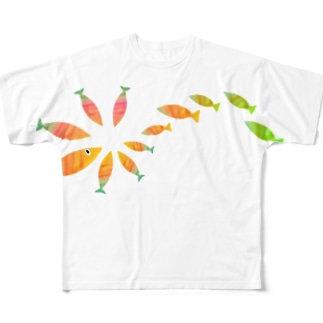 おさかな4 Full graphic T-shirts