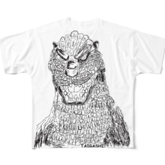 ゴジラ Full graphic T-shirts