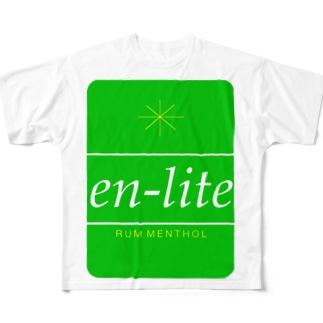 en-lite menthol Full graphic T-shirts
