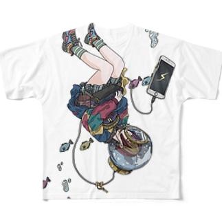 充電中 Full graphic T-shirts