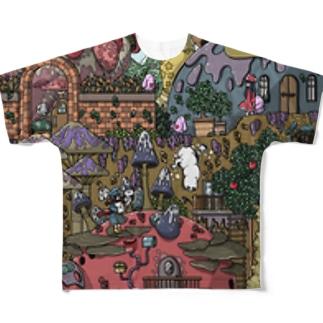菌糸町2丁目 Full graphic T-shirts