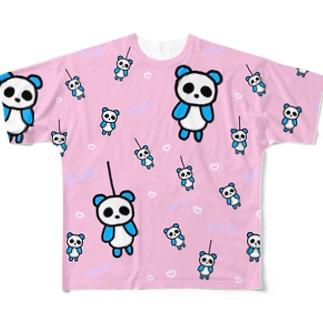 ミノぱんだ Full graphic T-shirts