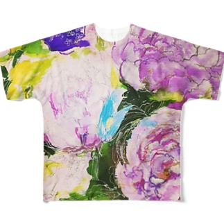 peony Full graphic T-shirts