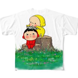 花冠B Full graphic T-shirts