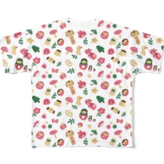 にぎやかおえかき Full graphic T-shirts