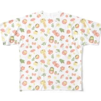にぎやかパステル Full graphic T-shirts
