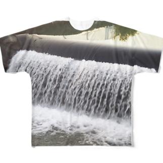 水路の流れのように… Full graphic T-shirts