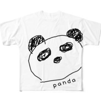 落書きぱんだ Full graphic T-shirts