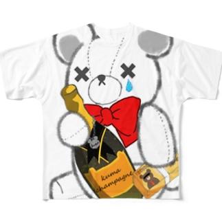 SAKEくま champagne Full graphic T-shirts
