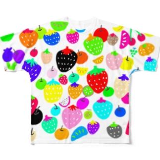 いちごとフルーツ Full graphic T-shirts