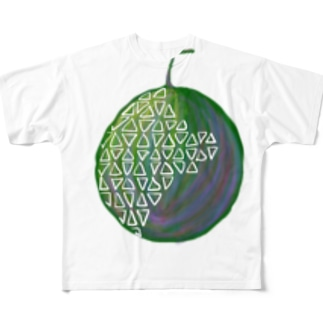 泥沼メロン Full graphic T-shirts
