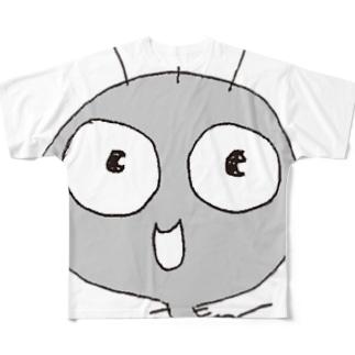 頭でっかちケムタン Full graphic T-shirts