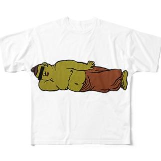 涅槃 Full graphic T-shirts