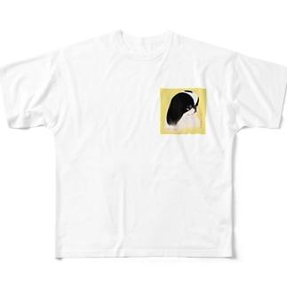 じゃぱにーず ちん。縁乃丞[狆] Full graphic T-shirts
