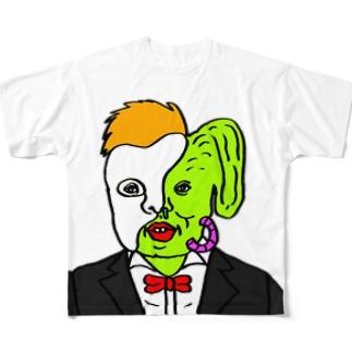 オペラ座の怪人っぽいけど隠す方逆や Full graphic T-shirts