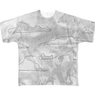 水石の世界 Full graphic T-shirts