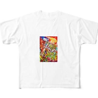織田尭 Full graphic T-shirts