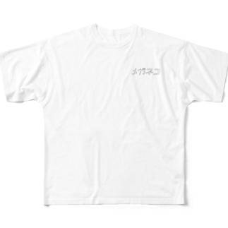 メガネコ Full graphic T-shirts