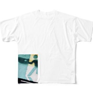 非常口使ってでも早急に帰りたい Full graphic T-shirts