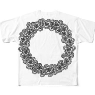 クローバーリース フルグラフィックTシャツ