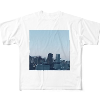 墓参り Full graphic T-shirts