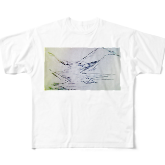 hentouの山と川 Full graphic T-shirts