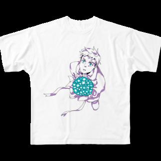 hentouの花束と男の子 Full graphic T-shirts