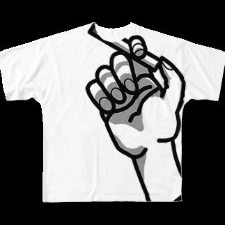 inuiuniのCIGARETTE Full graphic T-shirts