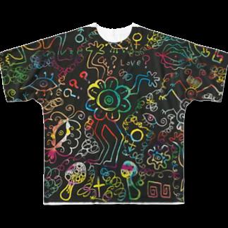 tomo4のダサカワサイケデリック Full graphic T-shirts