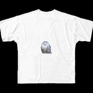 s_k_rの梟 Full graphic T-shirts