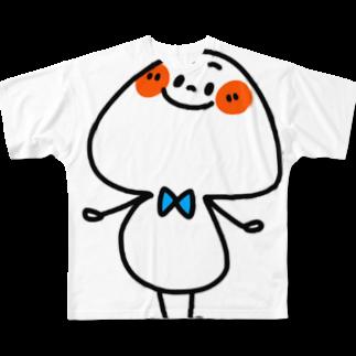 hagiKIRIEのきのこくん Full graphic T-shirts