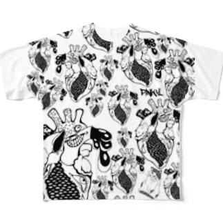 病みそうな集合体 Full graphic T-shirts