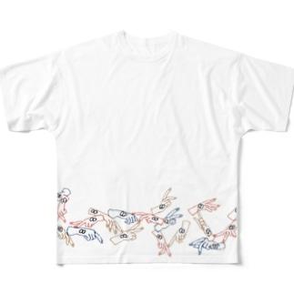 からふるはんどくん Full graphic T-shirts