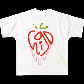 poponnuのichigo Full graphic T-shirts