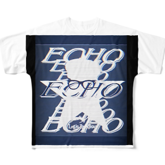 Logic RockStar  illustration Official StoreのECHO  Full graphic T-shirts