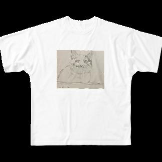 梅のneko Full graphic T-shirts