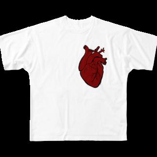 nemuriのHeart Full graphic T-shirts