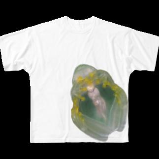 nemuriのフライシュマンアマガエルモドキくん Full graphic T-shirts