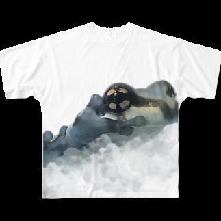 nemuriのミルキーフロッグくん Full graphic T-shirts