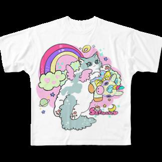 いくらとさーもんのぬいぐるみさーもん🦄💗 Full graphic T-shirts
