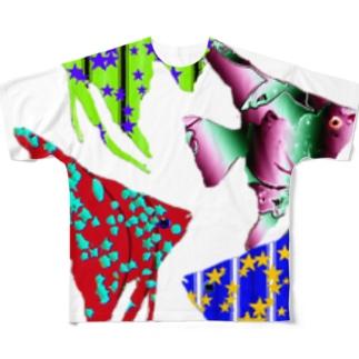 熱帯魚4 Full graphic T-shirts