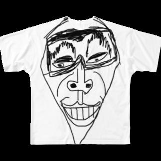 覇嶋卿士朗猿手品サンダークリムゾンじアまリーズ血褐色男爵ゾグザグゾクザギズグゾズゾノボラグラルゴンズのスネゲトンガリ二世 Full graphic T-shirts