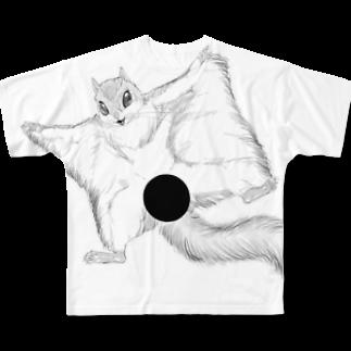 やわらかウール100%の変態モモンガ Full graphic T-shirts