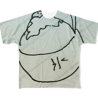 お絵描きかき氷 Full graphic T-shirts