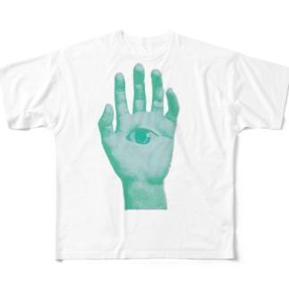 邪眼ポップ Full graphic T-shirts