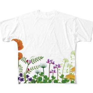 野の花 Full graphic T-shirts