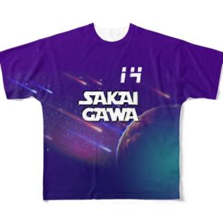 【販売済み】境川フリー/14番 Full graphic T-shirts